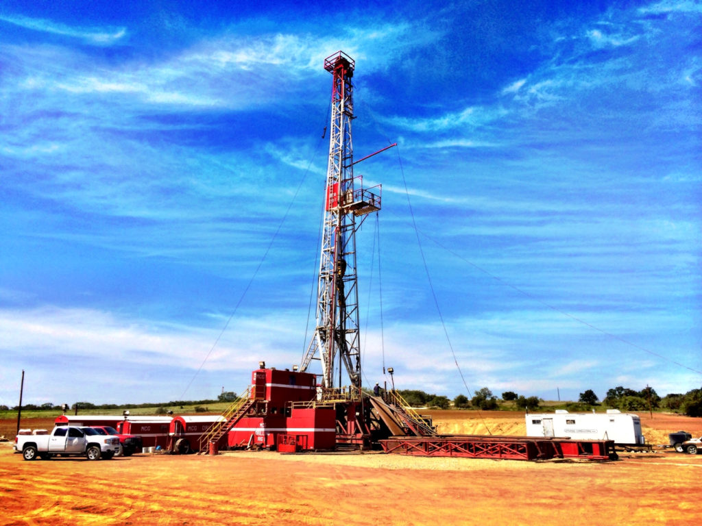 Oil and gas drilling rig #1 operated by MCG Drilling & completing LLC.