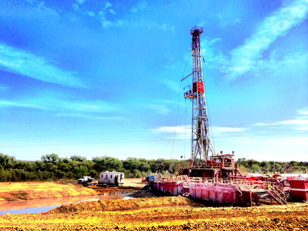Oil rig #1 owned and operated by MCG Drilling & Completing LLC in Texas.