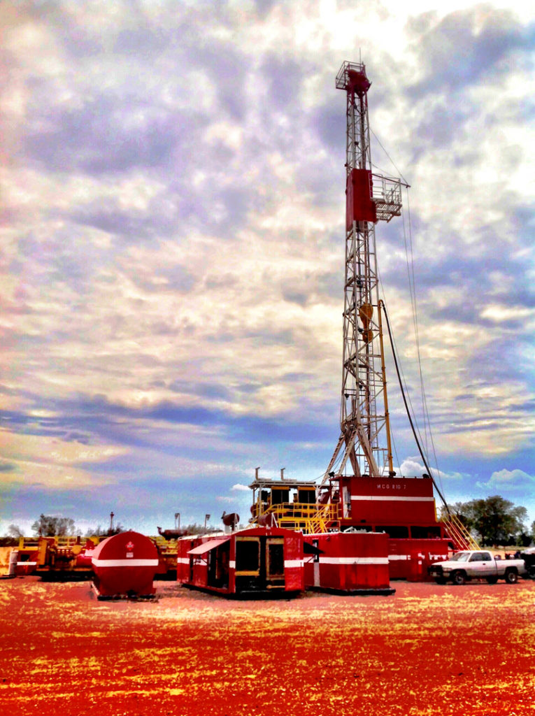 Rig #7 operated by MCG Drilling & Completing LLC in Texas.