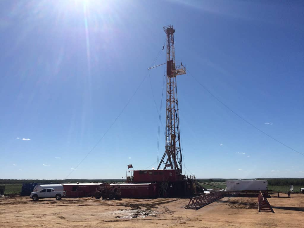 A view of rig #5 owned by MCG Drilling & Completing in Archer City, Texas.