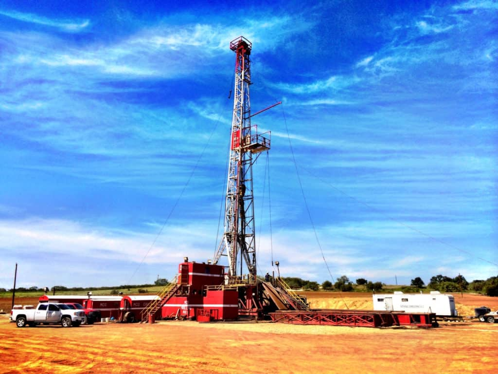 MCG Drilling & Completing LLC oil drilling rig.