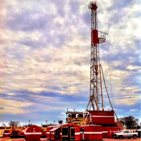 Oil drilling in Texas by MCG Drilling oil and gas company.